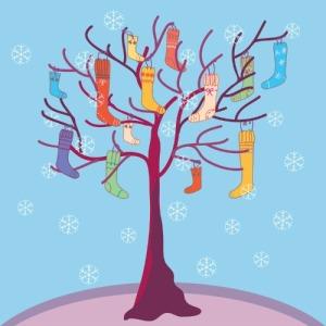 sock tree art 1
